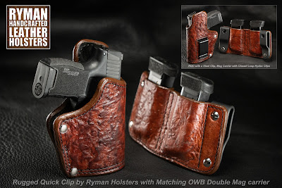 Leather Holster for Sig P365 with Lima or Foxtrot