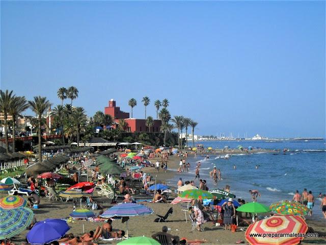 playas en la Costa del Sol en Málaga España