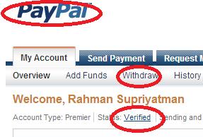 Cara Withdrawal Paypal ke Rekening BRI Syariah itu mudah brow
