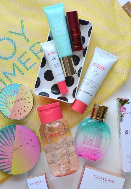 Clarins Frozen Summer Makeup Collection Flatlay