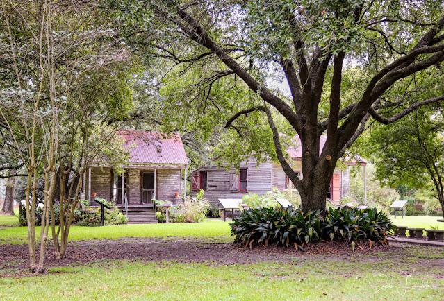 Slave Cabin and School House at San Francisco Plantation.