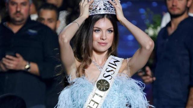 مايا رعيدي تتربع على عرش ملكة جمال لبنان.