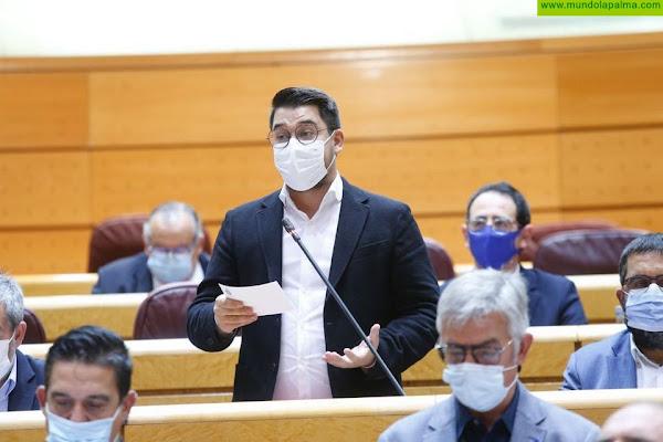 Chinea reclama al ministro Bolaños que garantice la tramitación urgente de las ayudas para los afectados por el volcán