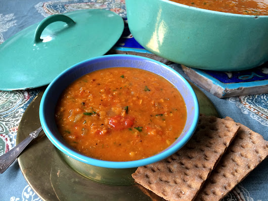 Slow Baked Moroccan Red Lentil Soup
