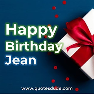 Happy Birthday Jean Gift