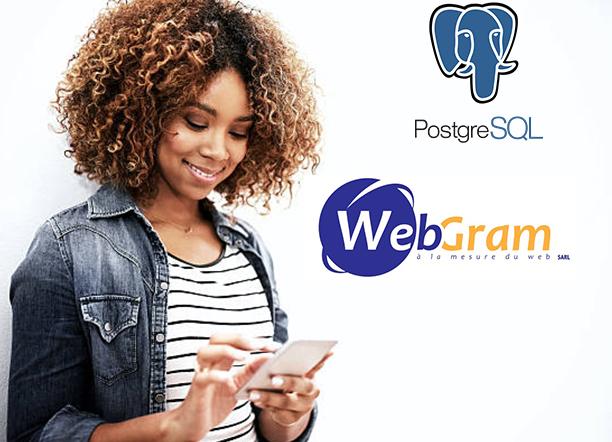 PostgreSQL : l'expertise de WEBGRAM, meilleure entreprise / société / agence  informatique basée à Dakar-Sénégal, leader en Afrique, ingénierie logicielle, développement de logiciels, systèmes informatiques, systèmes d'informations, développement d'applications web et mobiles
