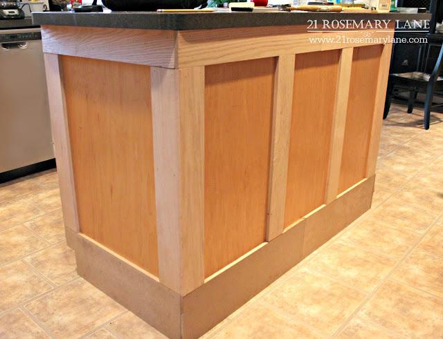 21 rosemary lane board batten kitchen island makeover - Kitchen island decorative trim ...