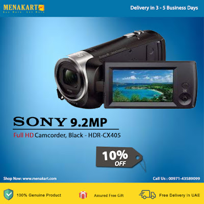 Sony 9.2MP, Full HD Camcorder, Black - HDR-CX405