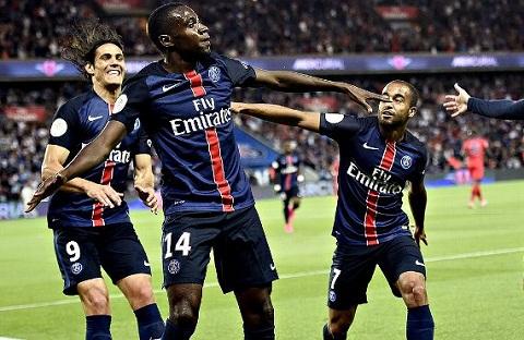 Matuidi là thành viên của bộ ba tiền vệ vững chắc của PSG.