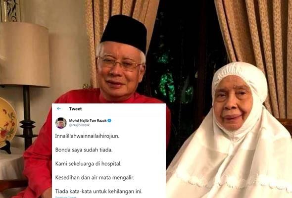Tun Rahah Noah, ibu Najib Razak meninggal dunia.. AL-FATIHAH