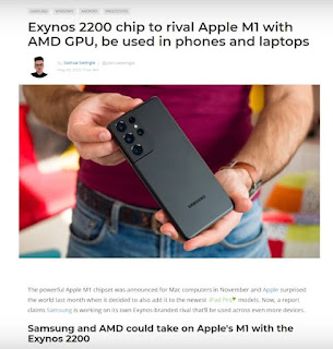 Apple M1,  Samsung, AMD, Exynos 2200, Which One,  Best