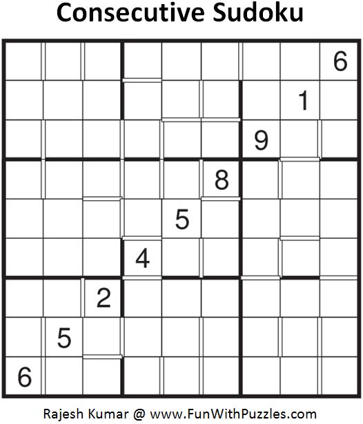 Consecutive Sudoku (Fun With Sudoku #100)