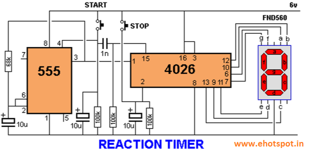 Reaction Timer Game with 7 Segment ~ Electronics Hotspot