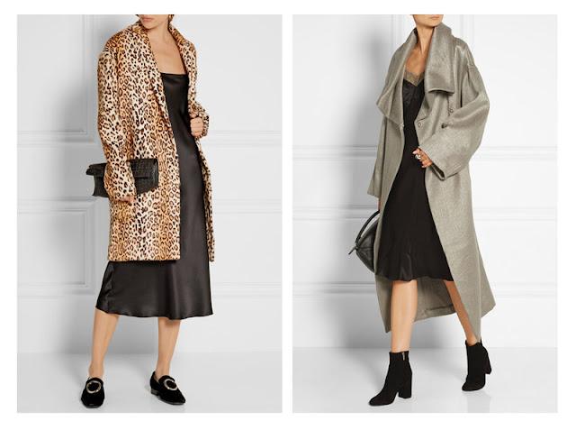 Платье-комбинация с пальто