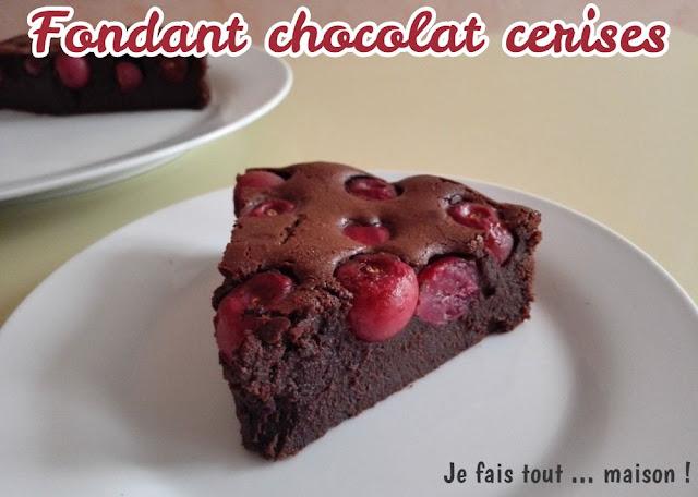 Fondant facile au chocolat et aux cerises