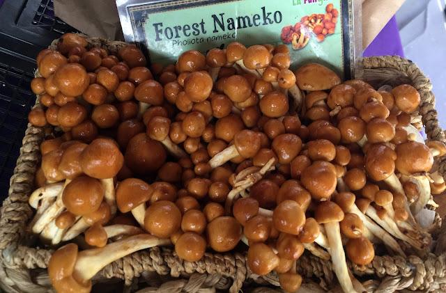 Wonderful mushrooms at the Hollywood Farmers Market, Los Angeles.