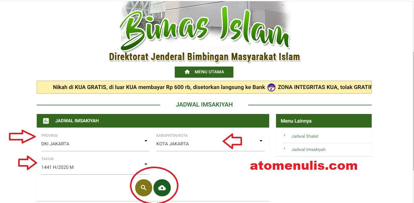 Cara Download Jadwal Imsakiyah Ramadan 1441 H Seluruh ...