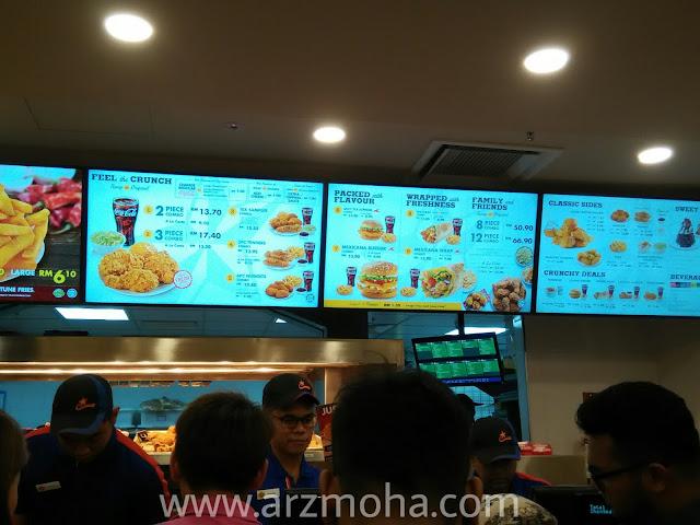 senarai harga dan menu di texas chicken, arzmohadotcom, blogger penang, food blogger, food lover,