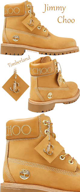 Jimmy Choo Timberland wheat nubuck leather boots with gold glitter #brilliantluxury