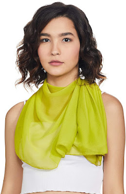 Cute Green Chiffon Scarves