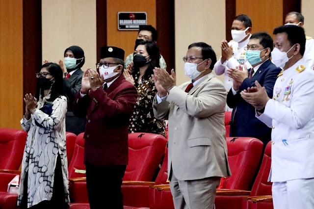 Megawati Orasi Kebangsaan, Prabowo Inspektur Upacara