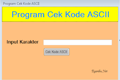 Koding Program Cek Kode Ascii Di VB.Net