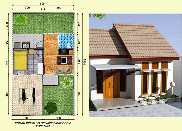 Rumah Type 21 : Pengertian, Denah, Harga