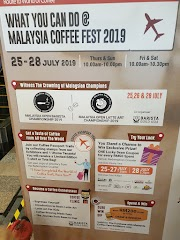 Malaysia Coffee Fest 2019, LG Floor Oval (New Wing) One Utama Shopping Centre, 25 - 28 Julai 2019, 10 pagi - 10.30 malam