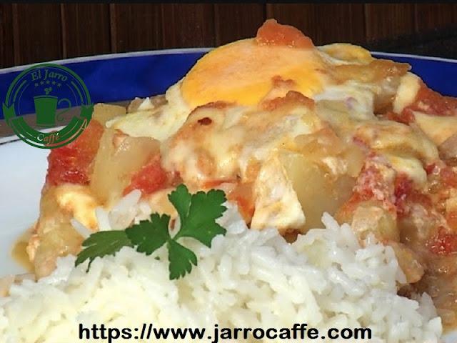 Bife koygua con arroz quesu
