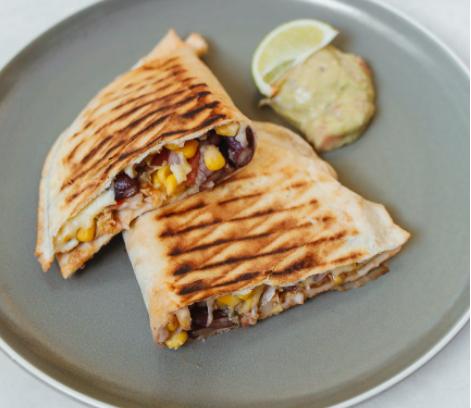 Shredded ground Beef Quesadillas Mexican food recipe easy