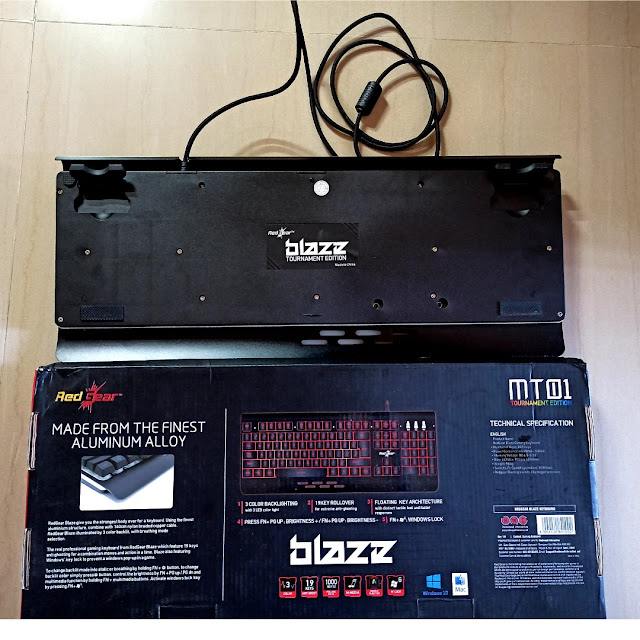 Red Blaze keyboard back side , best budget gaming keyboard