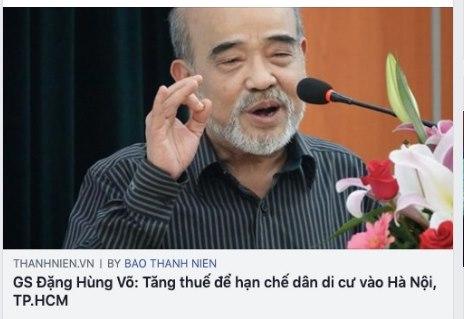 GS Đặng Hùng Võ phát biểu theo kiểu hách dịch, coi thường dân?, không có sáng kiến thì đừng phát biểu