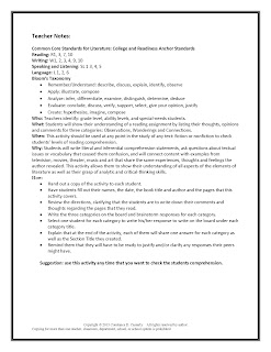 Middle and High School ELA Reading Comprehension Lesson Plan