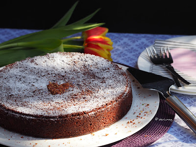 Veganer Schoko Kirsch Kuchen