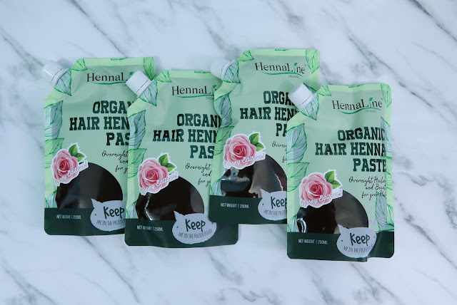 Hennaline Organic Hair Paste Raya Rosey Edition