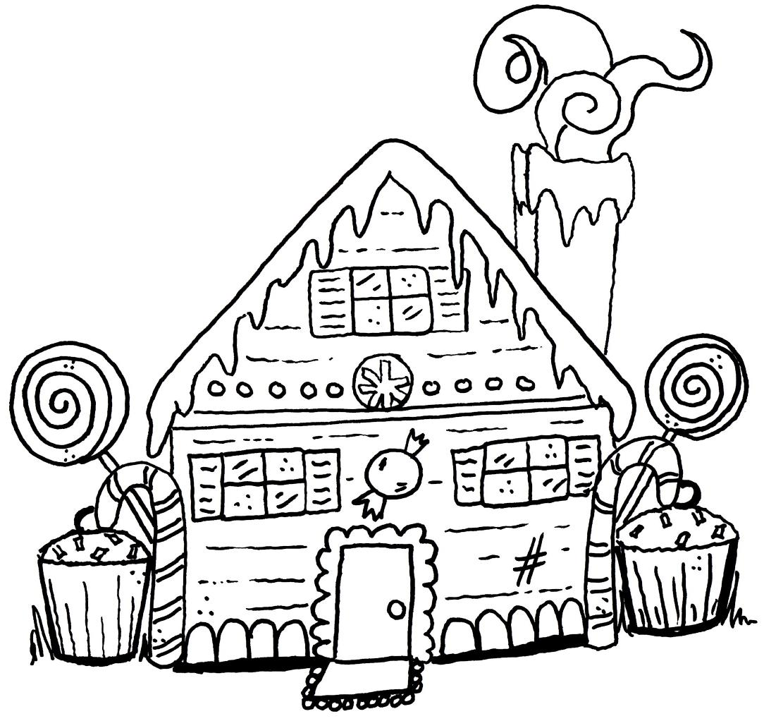 hansel and gretel candy house coloring pages coloring pages