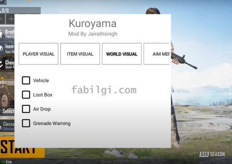 Pubg Mobile 1.0.0 Kuroyama Apk Aim, ESP Hilesi İndir Yeni Sürüm
