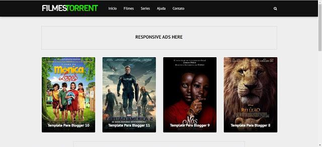 Mega Filmes Torrent Template Blogger
