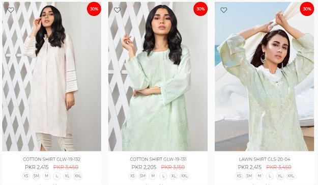 Gul Ahmed Eid sale on women pret