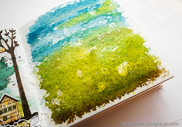 Layers of ink - Sing Art Journal Page by Anna-Karin Evaldsson. Paint with watercolors