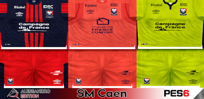 PES 6 Kits SM Caen Season 2017/2018 by Alessandro Edition