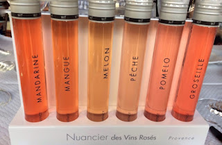 Different shades of rosés