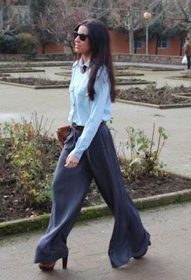 Pantalones ancho de vestir