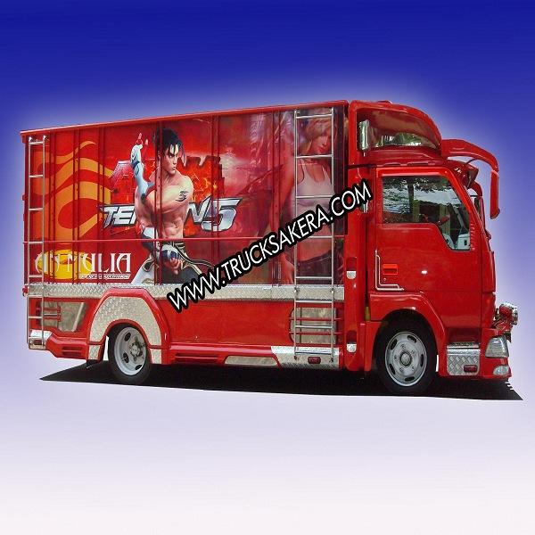 Foto gambar modifikasi mobil canter jawa dump truck terbaru
