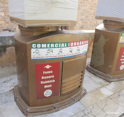 recycling bin, Majorca, Spain