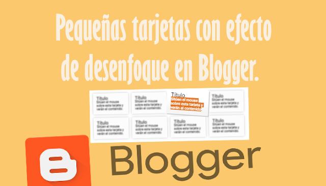 Pequeñas tarjetas con efecto de desenfoque en Blogger