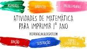 ATIVIDADES PARA IMPRIMIR DE MATEMÁTICA PARA 1º ANO