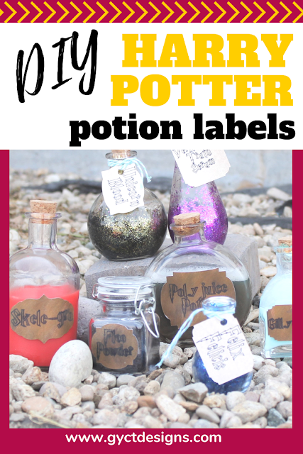 Step by step tutorial and video on how to make your own Harry Potter potion labels.  Perfect for decorating this Halloween.