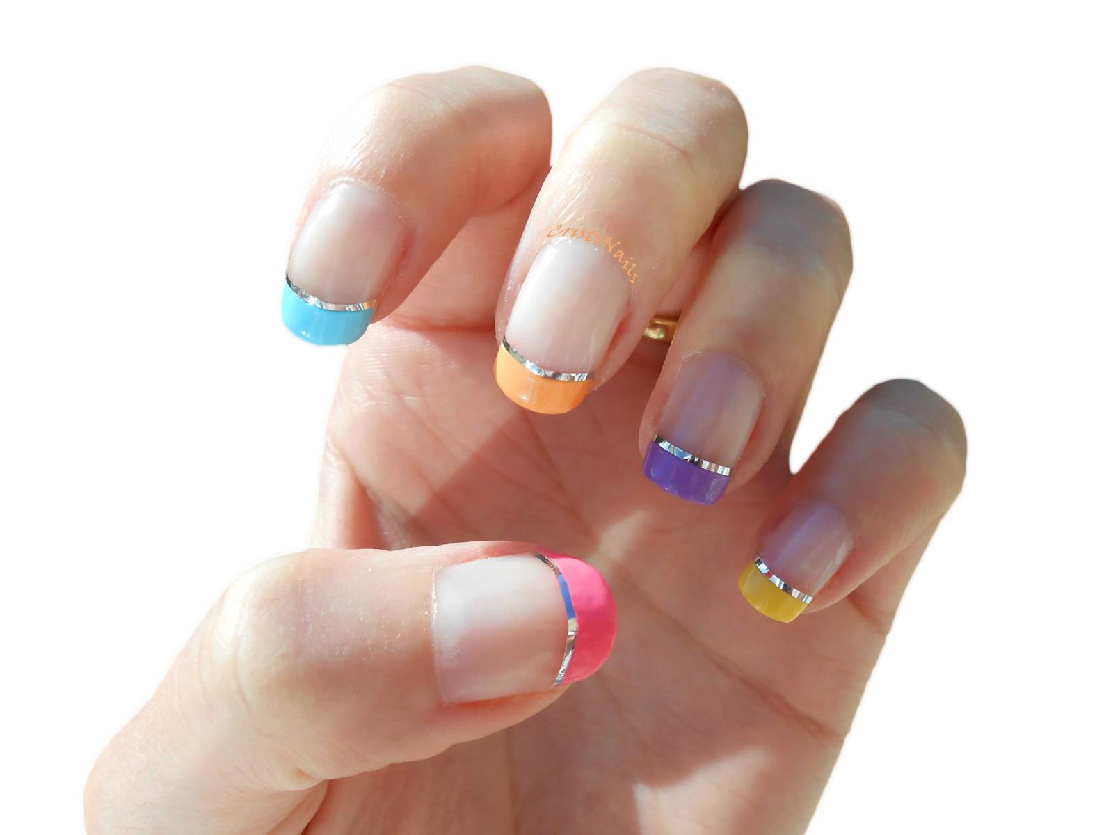 Cristinails Manicura Francesa De Colores Con Nail Tape