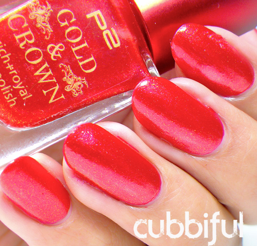 swatch p2 gold & crown red glamorous 030